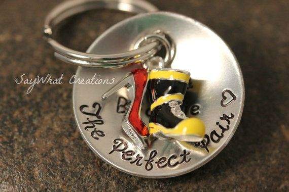 The Perfect Pair Key Chain Firefighter Boot by SayWhatCreations