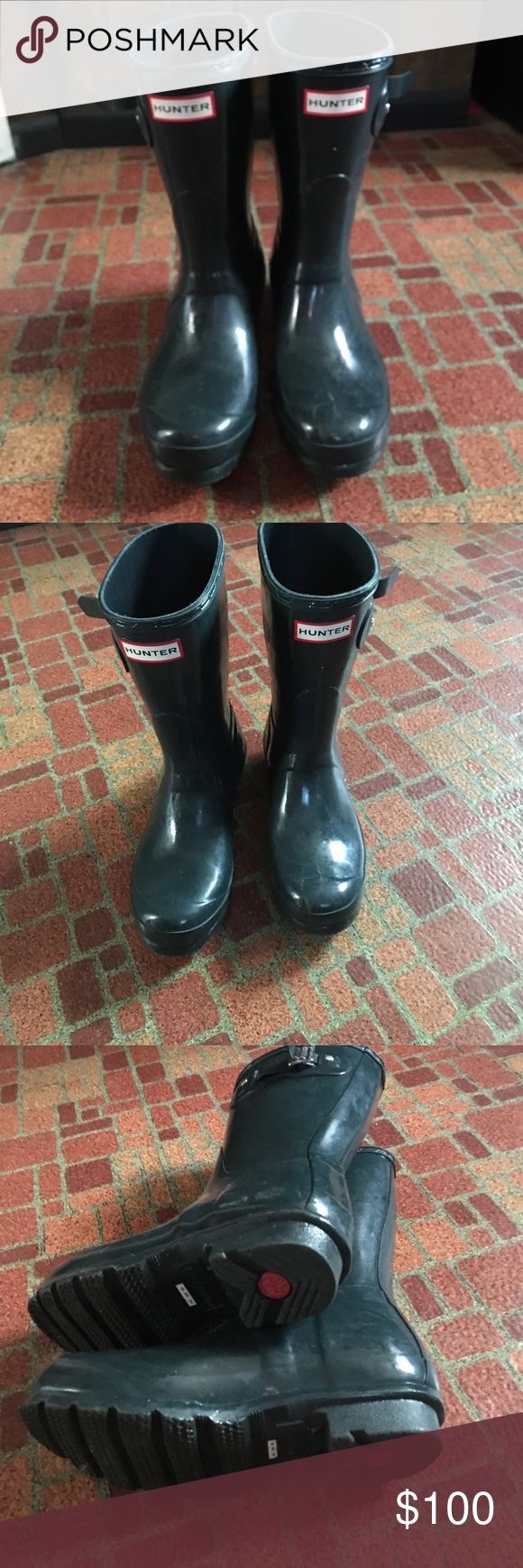 Hunter rain boots Green hunter boots size 5 in kid fits women size 6 like new worn 3 times! Shoes Winter & Rain Boots