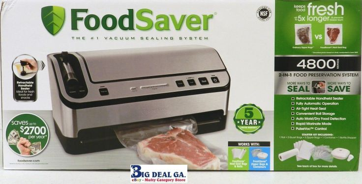 Keeps Food Fresh Up To 5x Longer And Prevents Freezer Burns   Retractable Handheld Sealer ( Ideal For Fresh Foods And Snacks)   Fully Automatic Operation   Air-Tight-Heat-Seal   Convenient Roll Storage   Auto Moist/Dry Food Detection   Rapid Marinate Mode   PulseVac Control