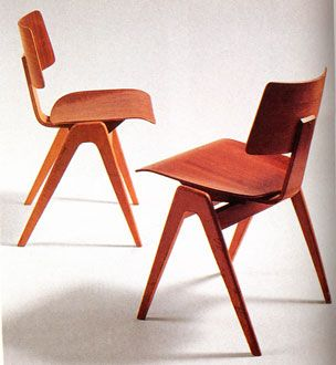 Robin & Lucienne Day. Stacking chairs for Hille.
