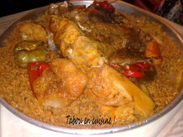 Recette Plat : Tiebou dieune (riz au poisson sénégalais) par Tabou01