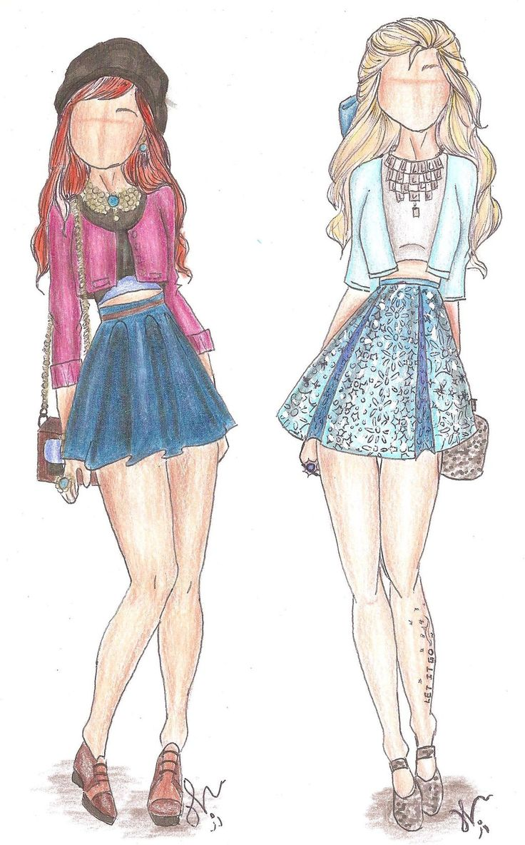 Disney Princess Fashion | Anna and Elsa by VianaDrawings.deviantart.com on @deviantART