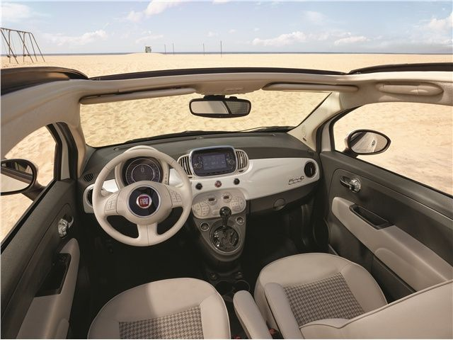 Billedresultat for fiat 500 interior