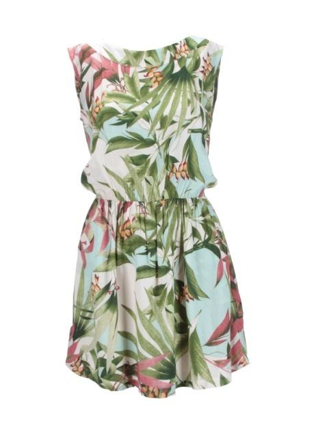 Vestido em viscose estampado; R$ 339, na Mob (www.mobonline.com.br).