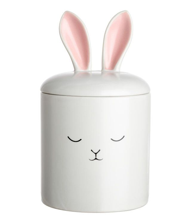 H&M Home bunny trinket box with lid