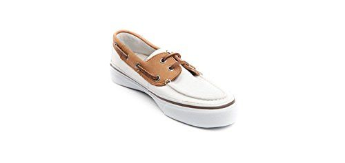 Sperry Men's Shoes Bahama 2-Eye Casual Sneakers Boat Shoes (White Brown 8.5 D(M) US)