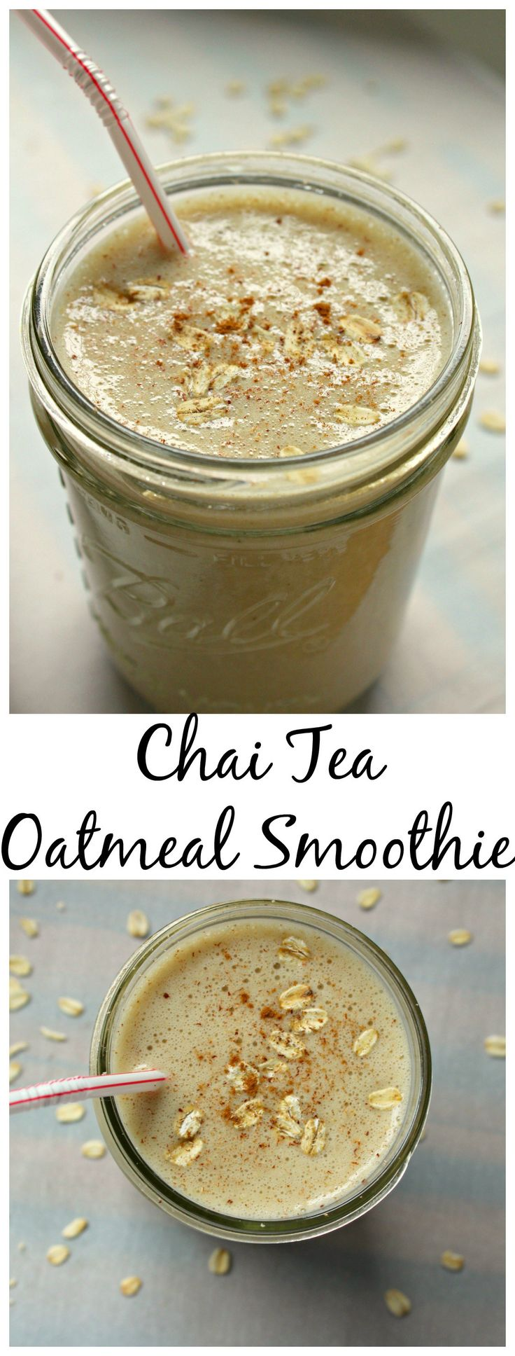 Chai Tea Oatmeal Smoothie: The Perfect breakfast on the go! The right amount of energy and refreshing! | smoothie | oatmeal smoothie | gluten free | gluten free smoothie | smootie recipe | chai tea smoothie | chai tea oatmeal smoothie | chai tea |