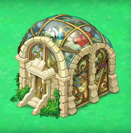 Library building for Oasis:The Last Hope game on Behance