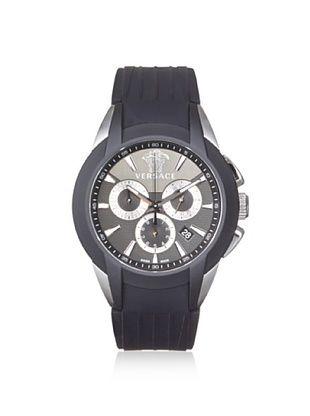 -67,400% OFF Versace Men's M8C99D008 S009 Character Black/Silver Rubber Watch