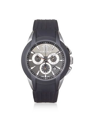 -67,400% OFF Versace Men's M8C99D008 S009 Character Black/Silver Rubber Watch