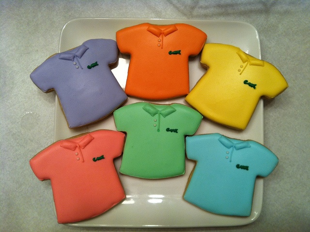 Lacoste Polo T-shirt Cookies by customICED cookies, via Flickr