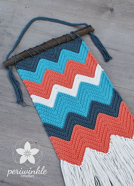 Ripple Wall Hanging pattern by Periwinkle Crochet
