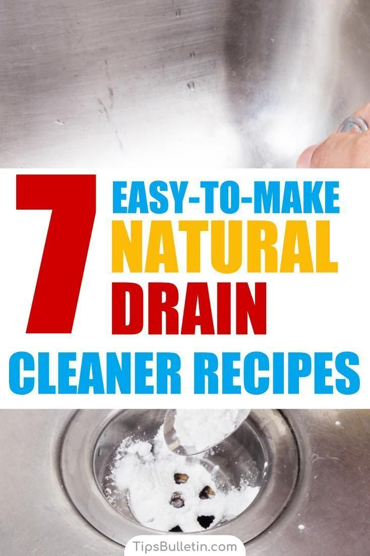 7 Easy To Make Drain Cleaner Recipes Baking Soda Vinegar Baking Soda Cleaner Cleaner Recipes