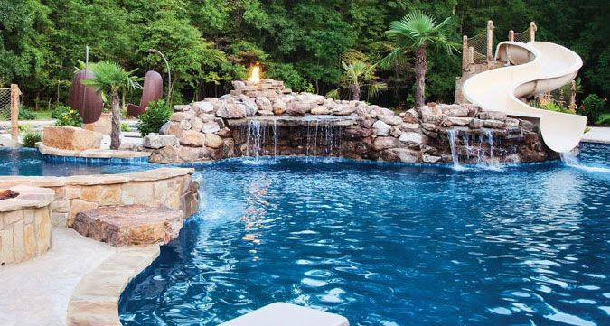 Backyard Lazy River Creative Luxury Pools #swimming Pools Has Big Waterslide With Grottolady .