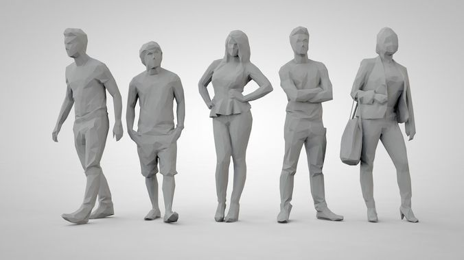set of low poly people 14 | 3D Model