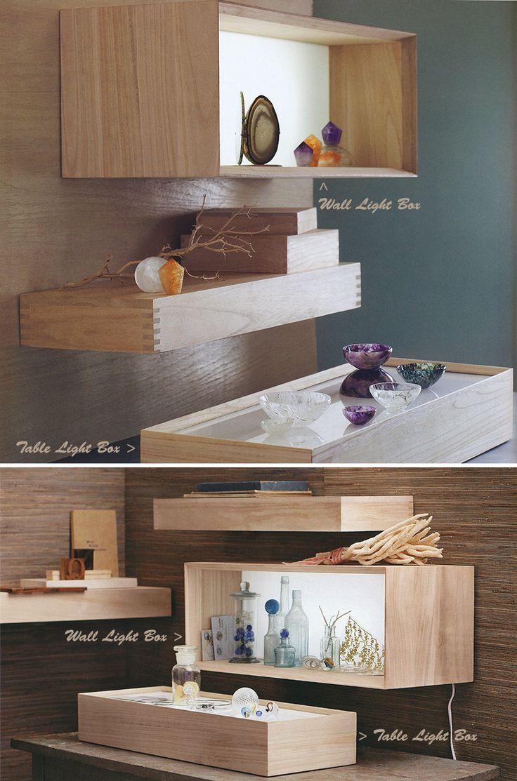 Akari Light Box And Display Wall And Table Shelf