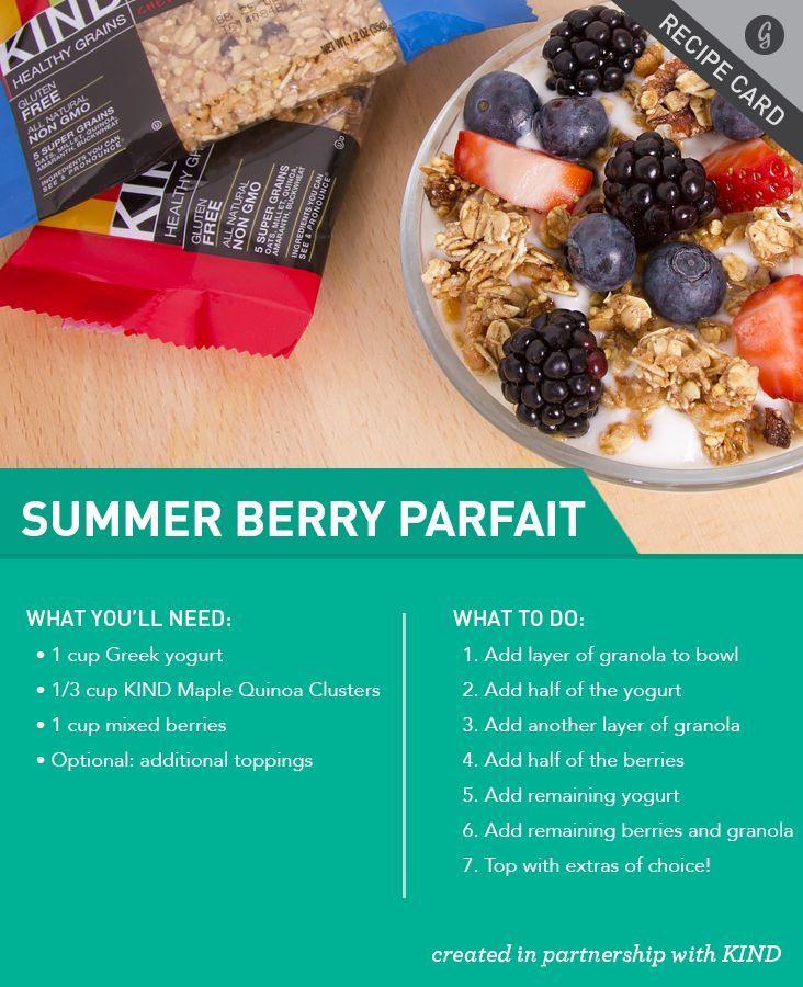 A tasty parfait featuring Kind Snacks. Mmm!