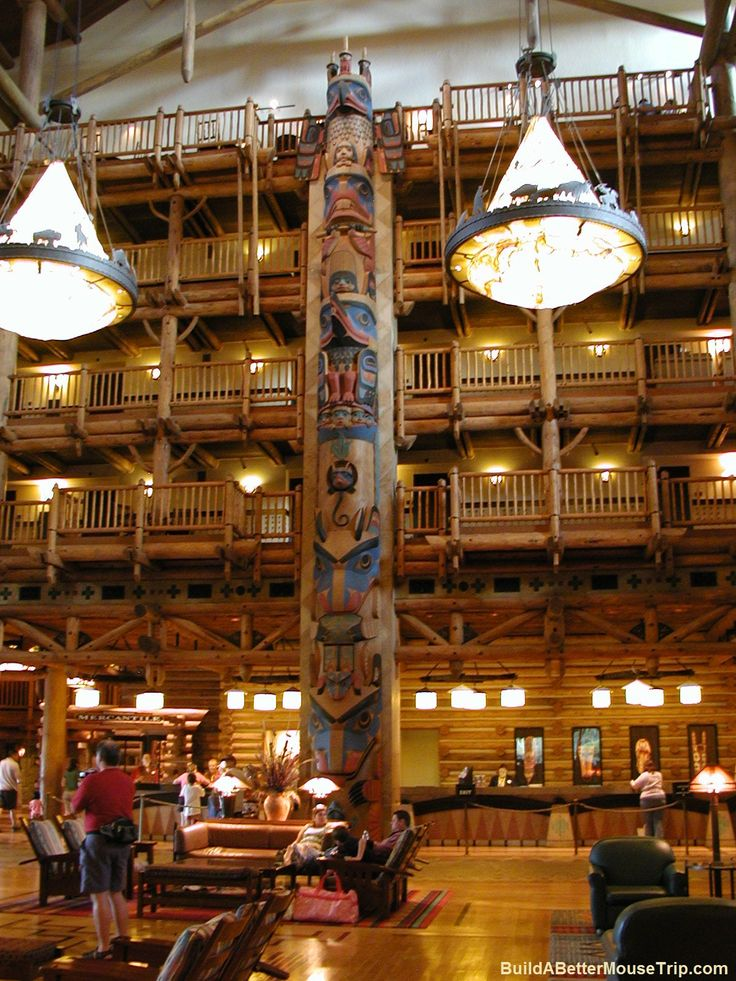 Lobby at Disney's Wilderness Lodge - Disney World / Florida. ~ LOVED IT!