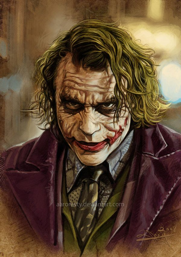 Heath Ledger's JOKER by ~aaronwty on deviantART