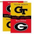 Ncaa 28 in. x 40 in. Georgia/GA Tech Rivalry House Divided Flag