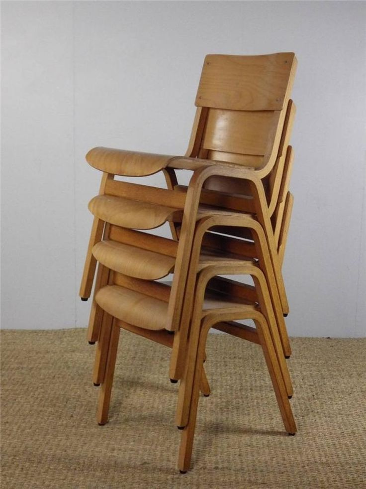 Stackable Wooden Chairs 40 available - adult size -vintage wooden stacking stackable