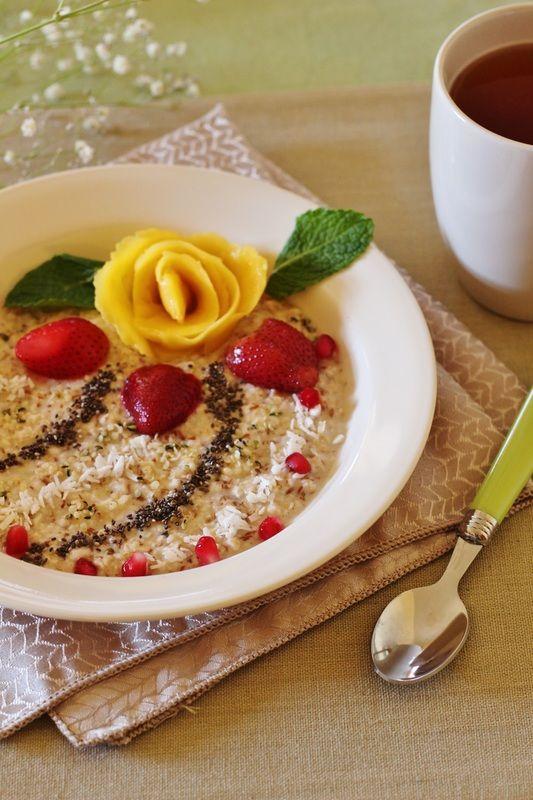 Mango Rose Porridge - Get the recipe at www.beverleynoseworthy.ca