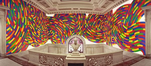 Sol LeWitt wall drawing at Morgan Hall at the Wadsworth Atheneum. It's even more beautiful in person. {{{Sol LeWitt complimented me on my ornaments while they were on display at Bank of America, Route 154. ir❁L B}}}