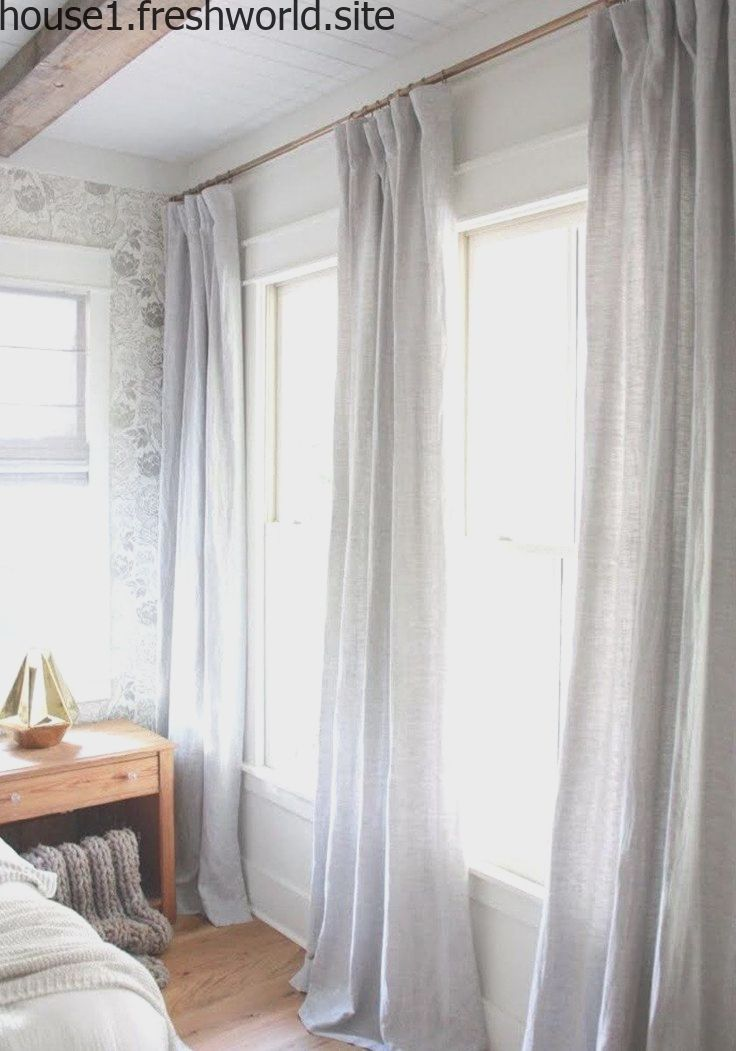 Long Curtains Look Beautiful In The Bedroom Window Treatments Living Room Sophisticated Bedroom Budget Friendly Living Room