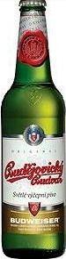 Cerveja Budejovicky Budvar (Czechvar), estilo Bohemian Pilsener, produzida por Budweiser Budvar Ceske Budejovice, República Tcheca. 5% ABV de álcool.