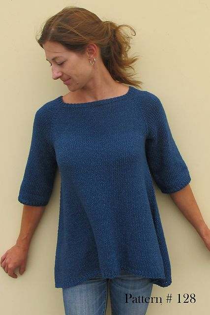 Top down Trapeze Pullover pattern by Diane Soucy