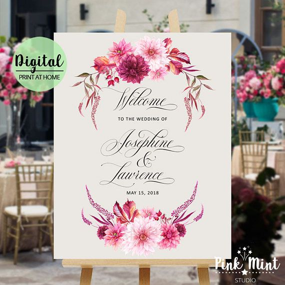 Wedding Welcome Sign Template Printable Welcome Sign Poster
