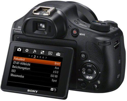 Sony HX400V: Die HX-Serie setzt nun auf das strukturierte Menü der Alpha-Reihe.
