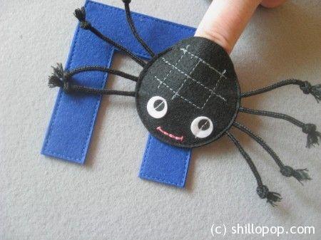 паук пальчиковая игрушка Азбука из фетра алфавит выкройки фетр