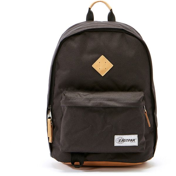 Eastpak Out Of The Office Into Black Backpack (€43) ❤ liked on Polyvore featuring bags, backpacks, black, eastpak rucksack, padded bag, laptop backpacks, padded laptop backpack and backpack laptop bag