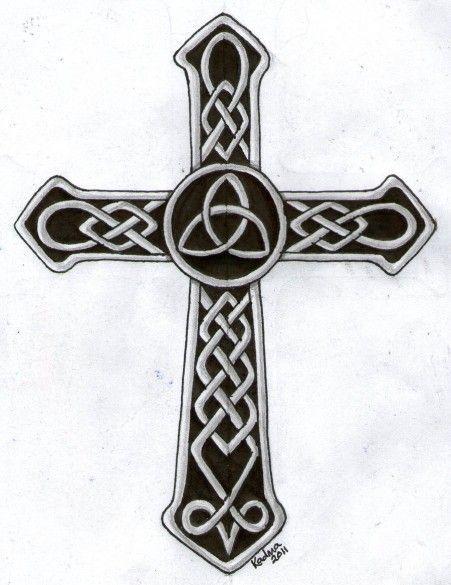celtic cross wth triquetra   Charmed   Pinterest   Celtic Crosses ...