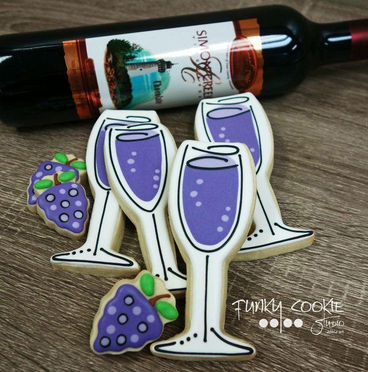 Wine cookies by Funky Cookie Studio