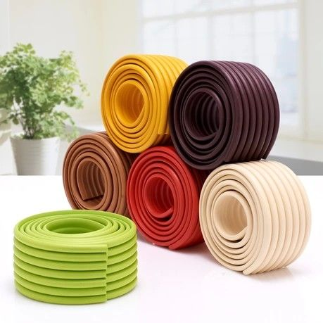 Baby Safety Products Baby Crash Bar  Thickening Crash Bar Glass Coffee Table corner protector Child Protection Strip 10 Colors