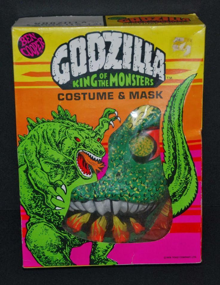 Ben Cooper Godzilla Costume and Mask Vintage halloween
