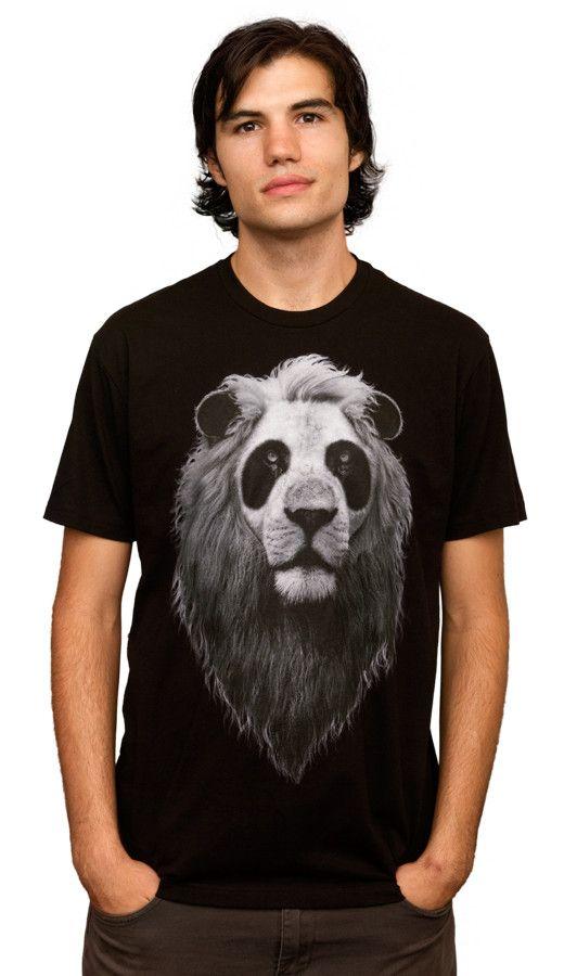 Daily Tee PandaLion custom t-shirt design by ADAMLAWLESS man