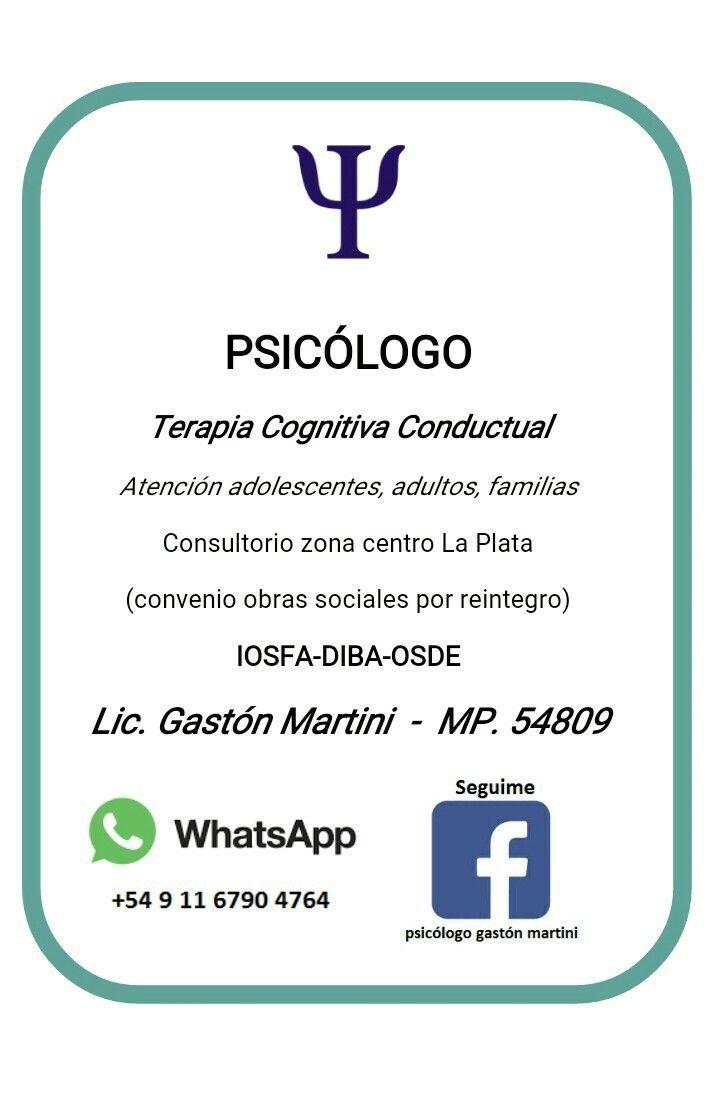 74 best Psicólogo Gastón Martini images on Pinterest | Mindset ...