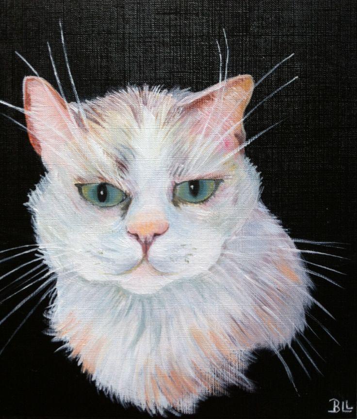 Peinture animaux chat peinture acrylique @Lumeline-BLL Lagune : Peintures par lumeline-bll