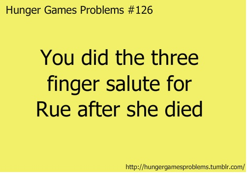 I did:) #hungergames #rue while sobbing like a baby lol