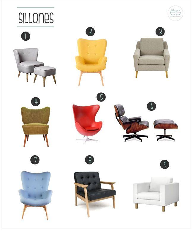 Las 25 mejores ideas sobre modelos de sillones en for Sillones estilo escandinavo