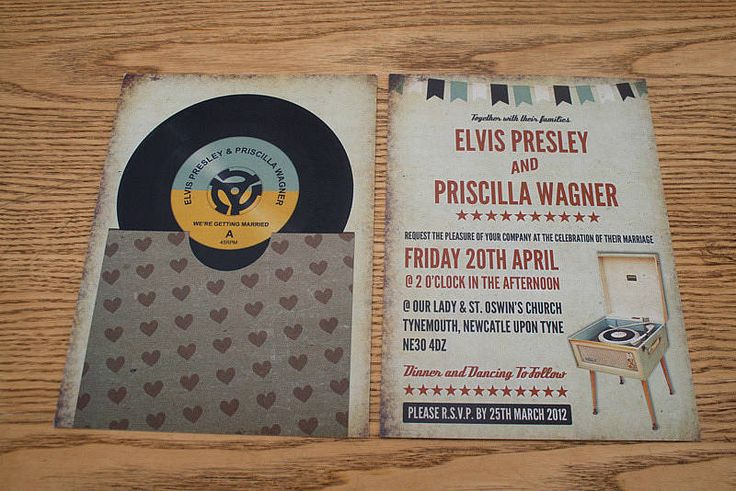 Exceptional Vinyl Record Music Themed Wedding Invitation | Themed Weddings And Weddings