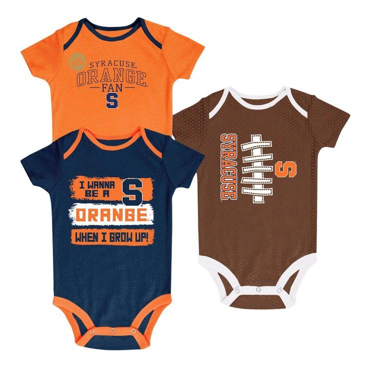 NCAA Newborn Bundle of Joy 3pk Bodysuit Set Syracuse Orange - 0-3 M, Newborn Boy's, Multicolored