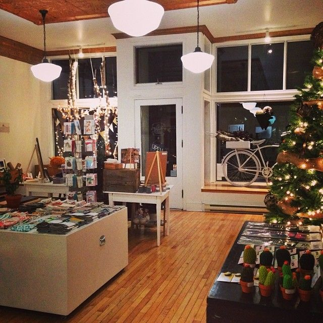 A peek at our shop redo to fit all of the festive cheer in!