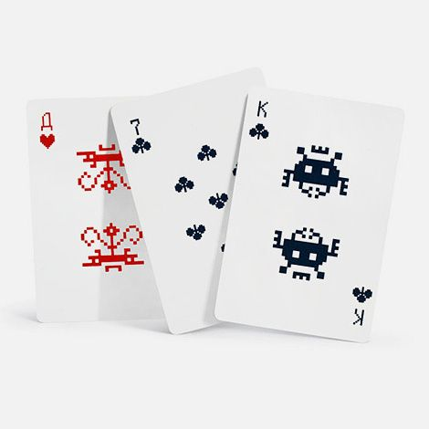 82 best playing cards images on pinterest decks game cards and cool playing cards space invader playing cards make your own reheart Choice Image