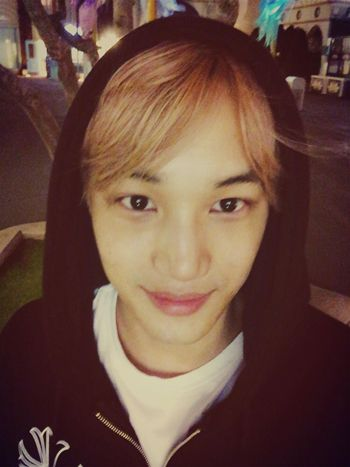 Kai☺️ Is he tired?:< his eyes are sleepy, poor baby❤️