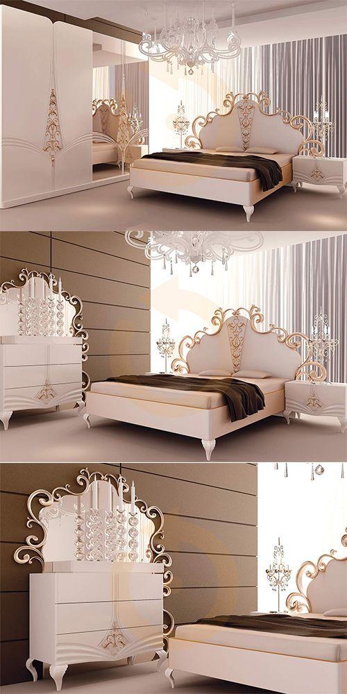 Yaşam alanlarınızda vazgeçemeyeceğiniz bir görüntü oluşturacak Vizyon Yatak Odası Modeli Mobilyam Online farkı ile satışta!