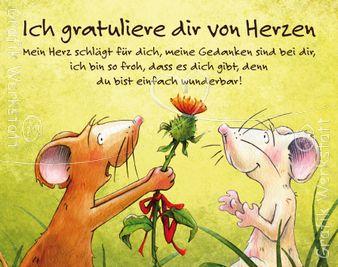 Ich gratuliere dir vom Herzen - Midi Cards - Grafik Werkstatt Bielefeld